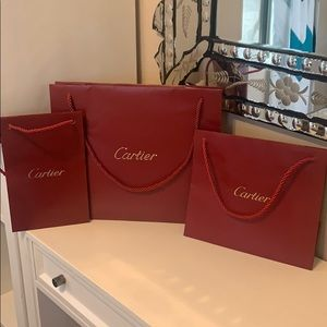 3 authentic Cartier gift bags multiple sizes